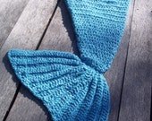 Crochet Toddler/Child/Teen/Adult Mermaid Tail Blanket/Cocoon