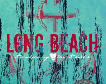 Long Beach Heart | New York City Shore Town | At Checkout, Choose Lustre Print or Gallery Wrapped Canvas
