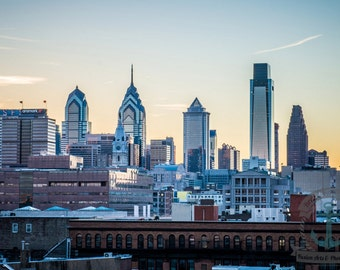 Philadelphia Skyline from Ben Franklin Bridge Fine Art Photography Product Options and Pricing via Dropdown Menu