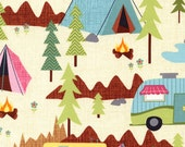 8 yards camping Scenic Fabric from Timeless Treasure's Under The Stars Collection