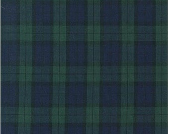 Hunter Green Window Pane Plaid from Robert Kaufman's Sevenberry Classic Plaid Collection