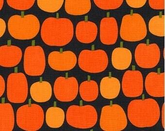 Pumpkins on Black From Robert Kaufman's Pumpkin Fun Collection by Ann Kelle