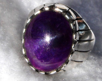 MENS  GEL  SUGILITE  Ring    #827-o