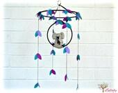 Koala mobile - australian - Nursery baby mobile - purple and teal, heather beige - Nursery decor - MADE TO ORDER