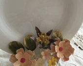 Vintage Italian Toleware ~ Set of Two Wall or Tabletop Plate or Picture Holders