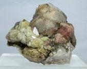 "Terminated Quartz Crystal Cluster with Lodolite Inclusions Excellent Collectible Display Specimen 470 grams 3.87"" Minas Gerais"