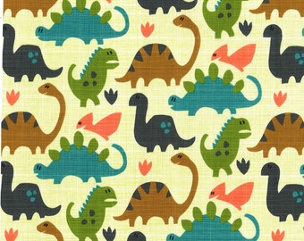 Fat Quarter fabric for quilt or craft Michael Miller Old Friends in Pistachio Fat Quarter