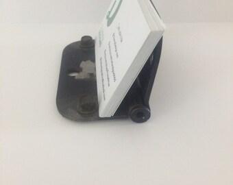 Door hinge business card holder
