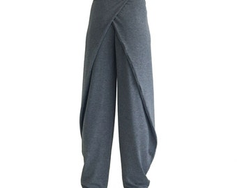 Wide leg pants ORIGAMI multiway wrap drape trousers aladdin sweat harem yoga comfortable baggy plus size sarouel loose slouchy lounge