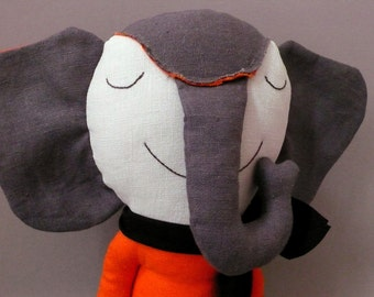 Mundo 09 - Elephant  Plush Toy stuffed Doll Plushie Softie