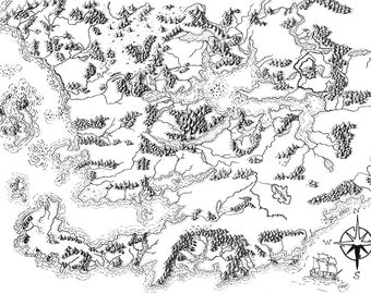 Illustrated Map of Faerun 3E