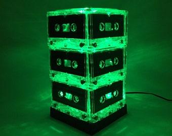 Green Cassette Tape Lamp Mixtape Light