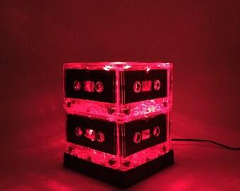 Mixtape Light Red Cassette Tape Light Lamp
