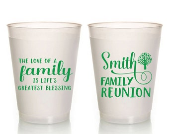 Family Reunion Cups, Family Tree, Event Cups Cups, Frosted Cups, Family Reunion Cups, Family Trip Cups, Frosted Cup, Party Cups, 1538