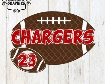 Football Split For Name and Number with SVG, DXF, PNG Commercial & Personal Use