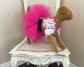 Coup de Foudre Dog Dress, Hot Pink