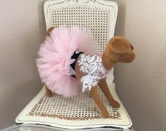Coup de Foudre Dog Dress, Blush Pink
