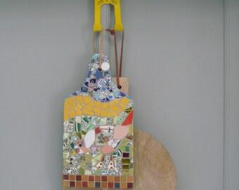 Planche à découper en mosaïque - Oiseau - Handmade mosaic - Bird