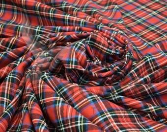 Cotton Flannel Plaid 16 Tartan Fabric by the Yard