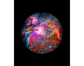 Orion Nebula - Luster Photo Paper or Canvas Gallery Wrap Ready to Hang - Available Sizes (8x10) (11x14) (16x20)