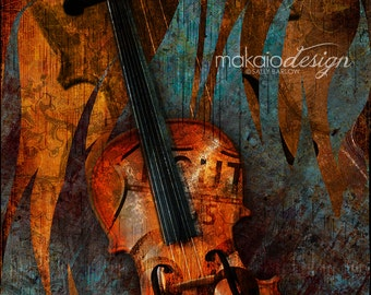 Route 66 Music Series Violin Music Art