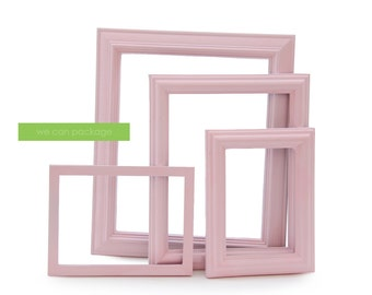 Baby Pink Picture Frames - Baby Shower Sign - Set of 4