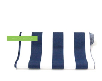 "Navy White Striped Table Runner 14"" x 108"" Cotton"