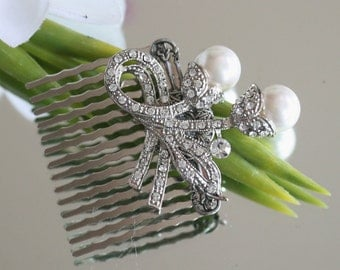 Hair Comb, Made with Vintage Inspired Jewelry, Jeweled Hair Comb, Bridal Hair Comb, Wedding Comb, Jewelled Hair Comb, Jewellery, Headpiece