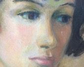 Vintage painting - Girls portrait