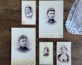 Antique Photography  Set of 5 photography group photography