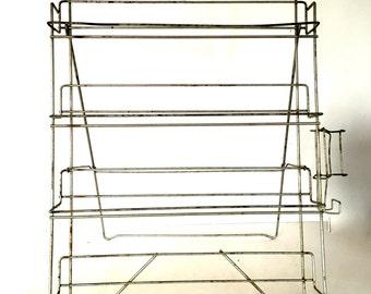 Vintage wire display rack
