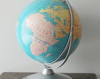 Vintage Metal Replogle 12 inch World Desk Globe