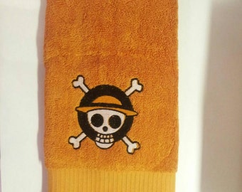 One Piece inspired embroidered wash cloth