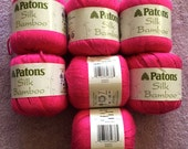 "Knitting yarn ""Patons Silk Bamboo"" in Magenta"