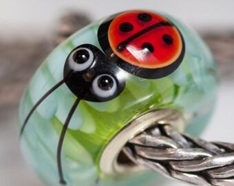GlassBonBon  Artisan Glass Bead Gold Universal Core Ooak Lampwork Beads SRA