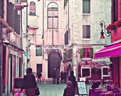 Italy Photography, Pink Nursery Art, Playroom Decor, Little Girl Bedroom, Venice, Streets of Italy, Fashion Photography, Preppy, Pink ,Dorm