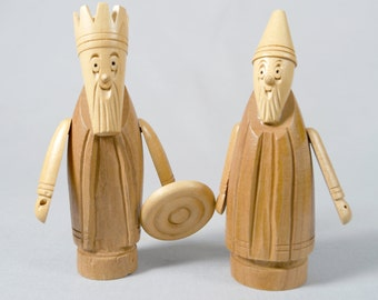Republic of Ireland, Midcentury wood figurines, Made in Eire Creations