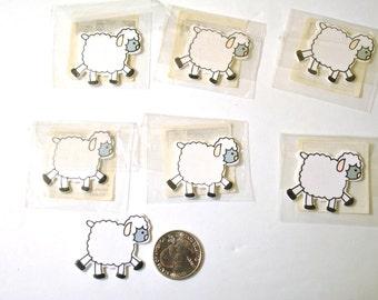Wooden Sheep Embellishment -10 piece