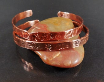 Tribal Cuff, Copper Stamped Cuff, tribal jewelry, navajo bracelet, copper cuff, native american, gypsy boho