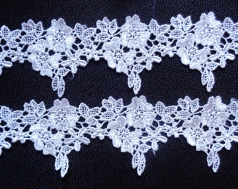 Venise lace trim, 2  inch wide  ivory color selling by the yard