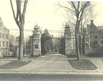 Mount Holyoke Entrance - Vintage Photo - Seven Sisters - South Hadley Massachusetts - College Campus - Collectibles