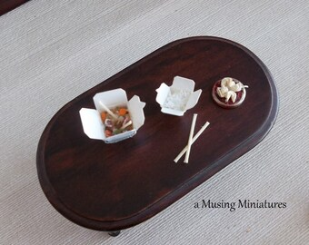 Chinese Take Out with Fortune Cookies in 1:12 Scale for Dollhouse Miniature Asian Restaurant