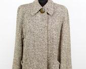 1940s Jacket // Tweed Wool Swing Coat