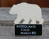 Woodland baby shower,Woodland baby shower decorations,Woodland Birthday,Woodland Themed Party Food Markers,Woodland Theme Chalkboard Signs