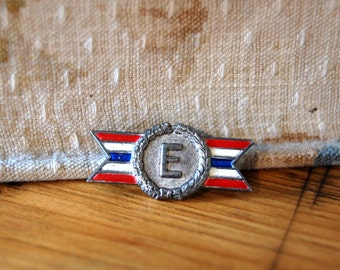Vintage Army Navy Production Award Sterling Army Navy Production E Award Military WWII Army Navy Flag Award Pin from The Eclectic Interior