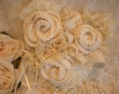 SALE...Romantic Shabby Chic Shades Of Ivory Petite Heart Pillow OOAK By SincerelyRaven On Etsy