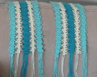 """Bruges Lace """"Ocean Waves"""" Scarf - Bruges (Belgium) Lace Scarf - Ladies Scarf"""