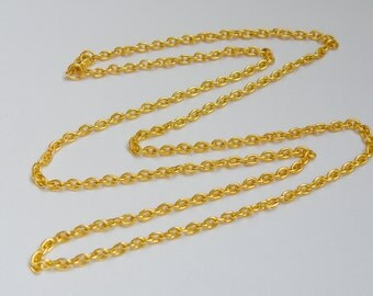 1 Heavy cable 30 inch shiny gold chain with lobster claw clasp necklace 5x3.5mm links 1052CH