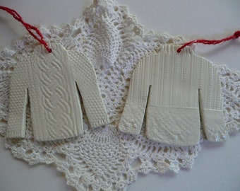 Sweater Christmas Ornaments - Knitted Pullovers