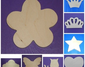 """Wood Shapes - 15"""" Size - Fairy Tale -Unpainted Wooden - Wall Hanging Decor - Kids Craft - DIY Project - Multiple Options"""